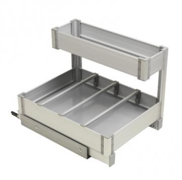 Panier sous évier extractible en Aluminium