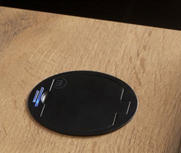 Bloc 1 prise affleurant / noir