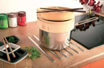 Repose casserole inox