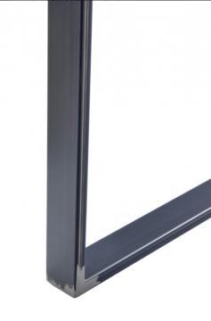 Pied Rectangulaire hauteur 715mm en acier noir industriel