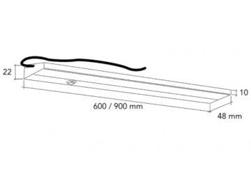 Réglette LED 10 ou 14W avec interrupteur/ 600mm - 10w