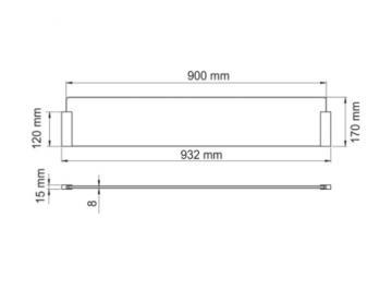 Kit séparateur anti projection ilot verre 90cm