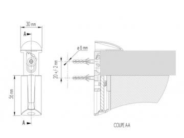 2 Supports tablette de 6 à 40mm schéma