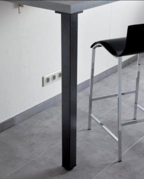 PIED de SNACK CARRE 60mm en Acier noir mat