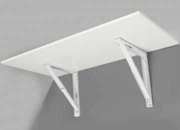 Support de Table Rabattable Blanc