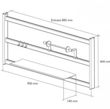 kit étagère de crédence 90cm schéma