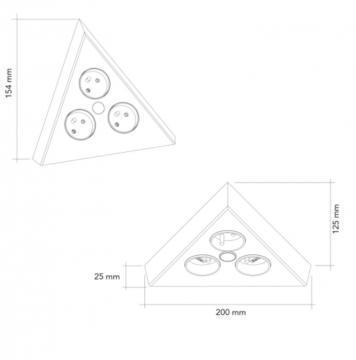 bloc 2 prises + interrupteur d'angle inox brossé MSA A9430 I