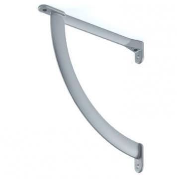 support tablette 175mm gris alu