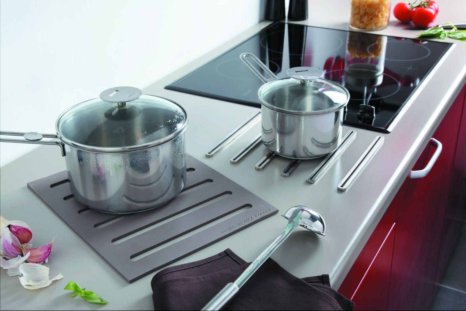 Plan De Travail Chrome kit 2 en 1 repose casserole + dessous de plat